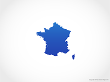 Map of France - Blue