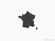 Map of France - Stamp