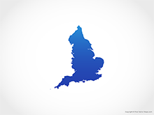 Map of England - Blue
