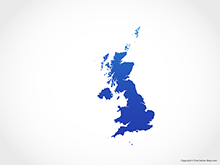 Map of United Kingdom - Blue