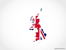 Map of United Kingdom - Flag