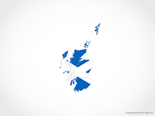 Map of Scotland - Flag