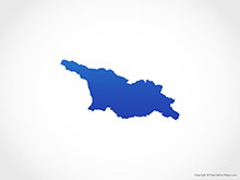 Map of Georgia - Blue