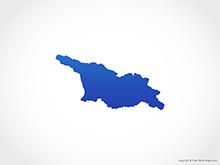 Map of Georgia - Blue