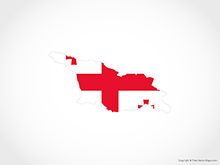 Map of Georgia - Flag