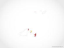 Map of Guernsey - Flag