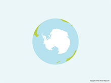 Map of Globe of Antarctica