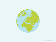 Map of Globe of Europe