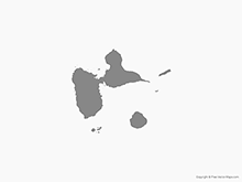 Map of Guadeloupe - Single Color