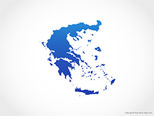 Map of Greece - Blue