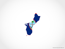 Map of Guam - Flag