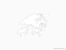 Map of Hong Kong - Outline