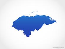 Map of Honduras - Blue