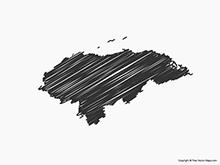 Map of Honduras - Sketch