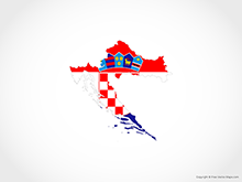 Map of Croatia - Flag