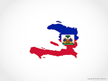 Map of Haiti - Flag