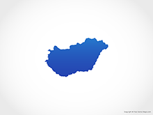 Map of Hungary - Blue