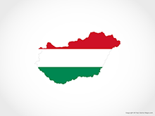 Map of Hungary - Flag