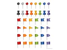Map Pins Set - Multicolor
