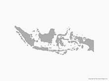 Free Vector Map of Indonesia - Dots