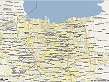 Map of Jakarta