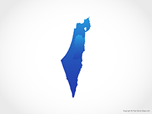 Map of Israel & Palestinian Territories