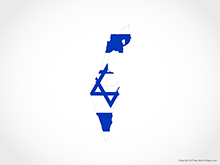 Map of Israel - Flag