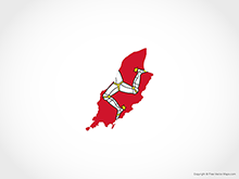 Map of Isle of Man - Flag