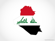 Map of Iraq - Flag