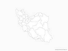 Map of Iran with Provinces - Outline