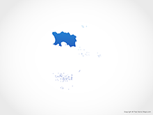 Map of Jersey - Blue