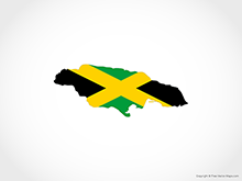 Map of Jamaica - Flag