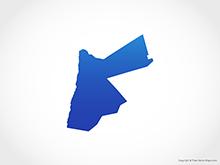 Map of Jordan - Blue
