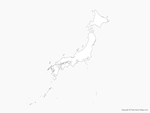Map of Japan - Outline