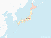 Map of Japan with Prefectures - Multicolor