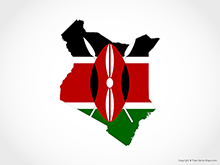 Map of Kenya - Flag