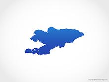 Map of Krygyzstan - Blue