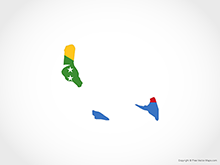 Map of Comoros - Flag