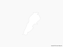 Map of Lebanon - Outline