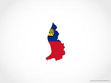 Map of Liechtenstein - Flag