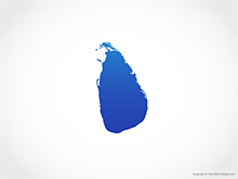 Map of Sri Lanka - Blue