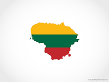 Map of Lithuania - Flag