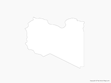 Map of Libya - Outline