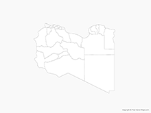 Map of Libya with Districts - Outline
