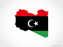 Map of Libya - Flag