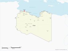 Map of Libya with Districts