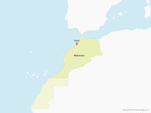 Map of Morocco & Western Sahara
