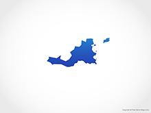 Map of Saint Martin - Blue