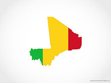 Map of Mali - Flag