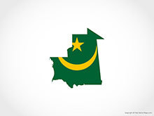Map of Mauritania - Flag